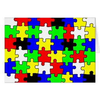 Bright & Colorful Puzzle Pieces Card