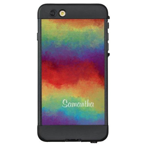 Bright Colorful Rainbow Abstract Painting LifeProof NÜÜD iPhone 6 Plus Case
