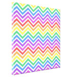 Bright colorful rainbow chevron zigzag graphic gallery wrapped canvas