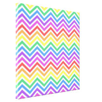 Bright colorful rainbow chevron zigzag graphic canvas print