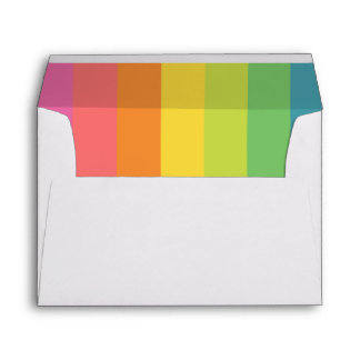 Bright Colorful Rainbow Liner with Return Address Envelope