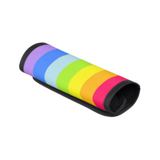 Bright colorful rainbow luggage wrap