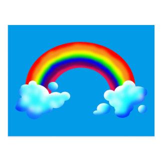 Bright & Colorful Rainbow Postcard