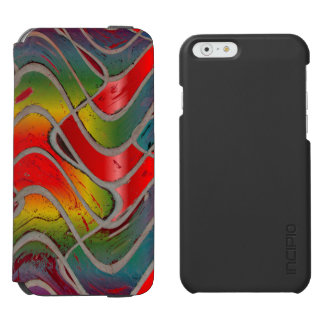 Bright Colorful Red Yellow Abstract iPhone 6/6s Wallet Case