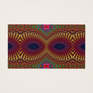 Bright Colorful Red Yellow Fractal Eye Mask Business Card