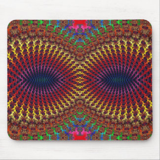 Bright Colorful Red Yellow Fractal Eye Mask Mouse Pad