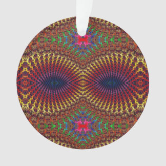 Bright Colorful Red Yellow Fractal Eye Mask Ornament