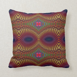 Bright Colorful Red Yellow Fractal Eye Mask Throw Pillow