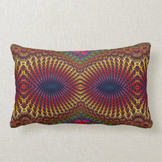 Bright Colorful Red Yellow Fractal Eye Mask Pillow