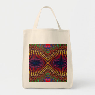 Bright Colorful Red Yellow Fractal Eye Mask Tote Bag