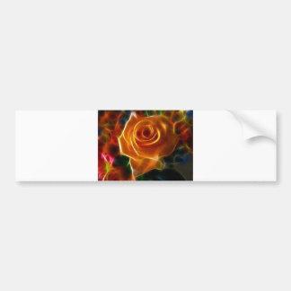 Bright Colorful Rose Bumper Sticker