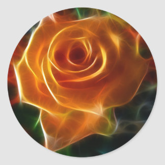 Bright Colorful Rose Classic Round Sticker