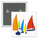 Bright colorful sailboats buttons
