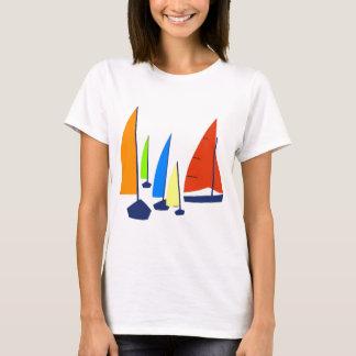 Bright colorful sailboats T-Shirt