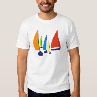 Bright colorful sailboats t shirt