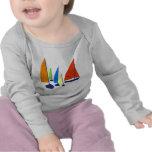 Bright colorful sailboats tees