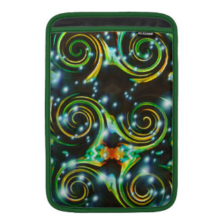 Bright Colorful Spirals Abstract Art Sleeve For MacBook Air