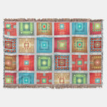 Bright Colorful Squares Throw