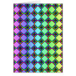Bright Colorful Stained Glass Style Pattern. Stationery Note Card