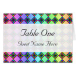 Bright Colorful Stained Glass Style Pattern. Cards