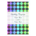 Bright Colorful Stained Glass Style Pattern. Full Color Flyer