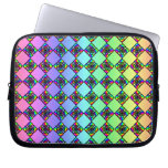 Bright Colorful Stained Glass Style Pattern. Laptop Computer Sleeves