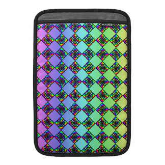 Bright Colorful Stained Glass Style Pattern. MacBook Sleeve