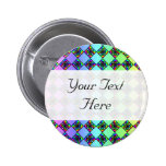 Bright Colorful Stained Glass Style Pattern. Pins