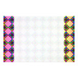 Bright Colorful Stained Glass Style Pattern. Customized Stationery