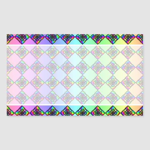 Bright Colorful Stained Glass Style Pattern. Sticker