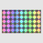 Bright Colorful Stained Glass Style Pattern. Stickers