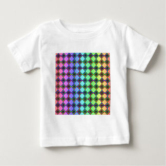 Bright Colorful Stained Glass Style Pattern. T-shirt