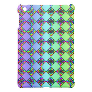 Bright Colorful Stained Glass Style Pern iPad Mini Case