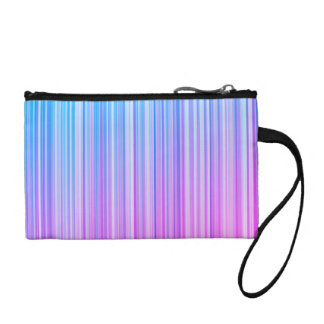 Bright Colorful Striped Pattern Change Purse