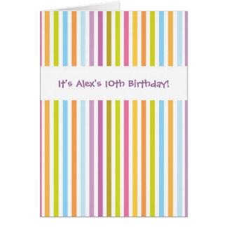 Bright colorful stripes customizable invitations