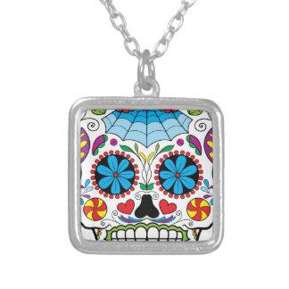 Bright Colorful Sugar Skull-Dia Des Los Muertos Custom Necklace
