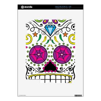 Bright Colorful Sugar Skull-Dia Des Los Muertos Skin For iPad 2