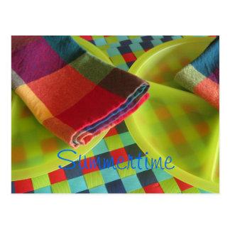 Bright, colorful Summertime postcard or invitation