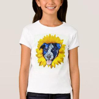 Bright & Colorful Sunflower Pitbull Design Top