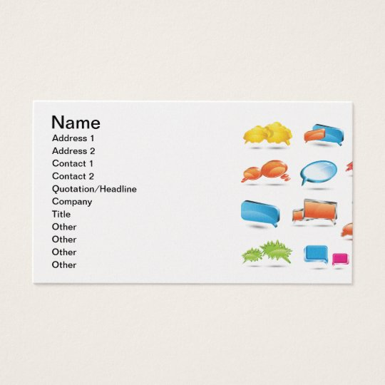 Bright Colorful Text Baloons.ai Business Card