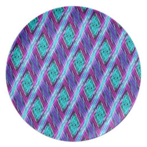 bright colorful threads plates