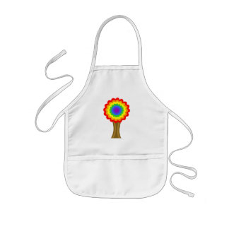 Bright Colorful Tree in Rainbow Colors. Kids' Apron