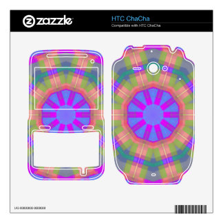 Bright Colorful trendy pattern HTC ChaCha Skin