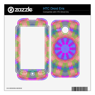 Bright Colorful trendy pattern Decals For HTC Droid Eris