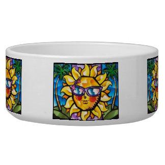 Bright & Colorful Tropical Sun & Palms Bowl