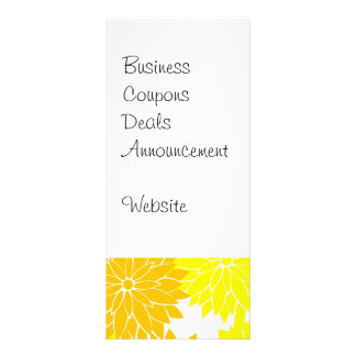 Bright Colorful Yellow Flower Blossoms Floral Full Color Rack Card