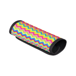Bright colorful zigzag chevron luggage wrap