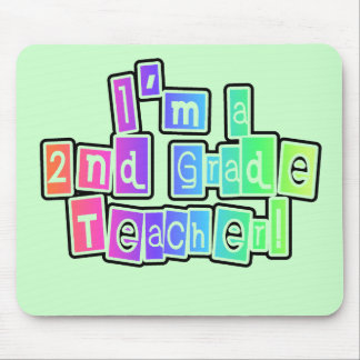 Bright Colors 2nd Grade Teacher Mouse Pad