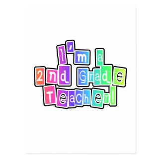 Bright Colors 2nd Grade Teacher Postcard