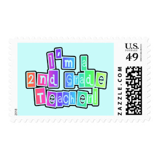 Bright Colors 2nd Grade Teacher Stamp